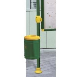 Corbeille Esterel 40 litres sur poteau
