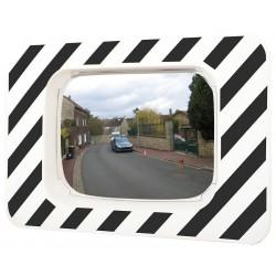 Miroir rectangulaire avec cadre noir et blanc