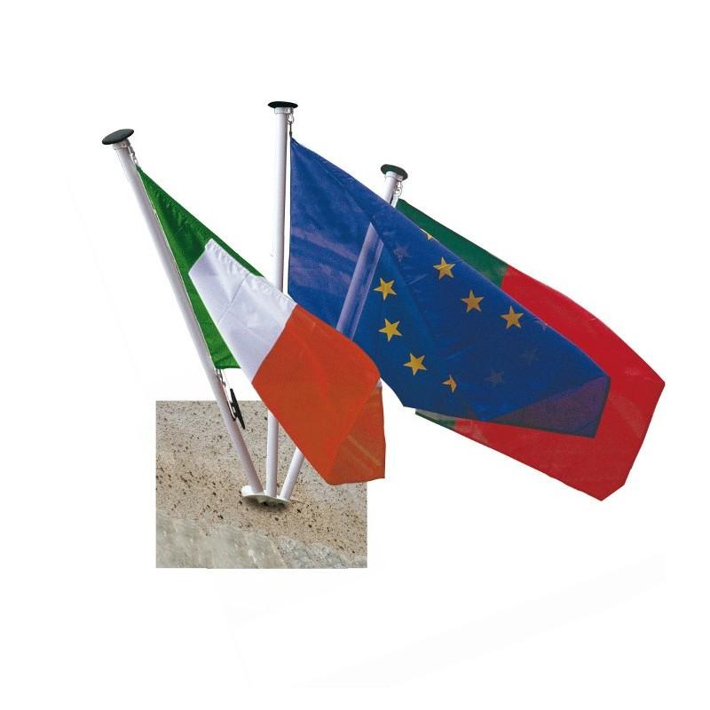 Supports pour mâts de façade 3 drapeaux