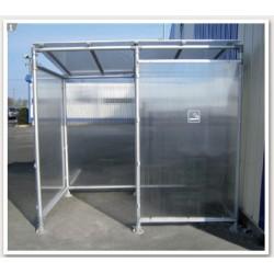 Abri Fumeurs en aluminium