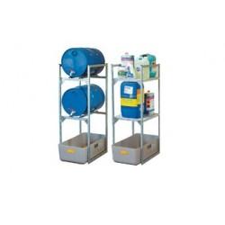 rayonnages pour futs de 60 litres