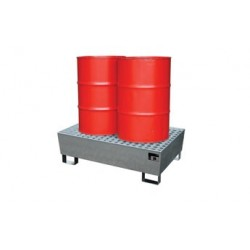 Bac de retention acier 2*210 litres