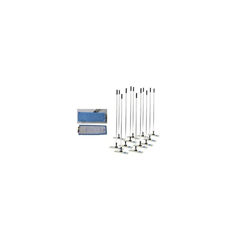 Mop bleu avec poches, codes couleur avec languettes 46 x 14 cm