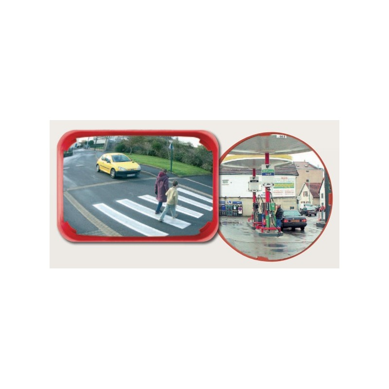 Miroirs multi-usages couleur rouge