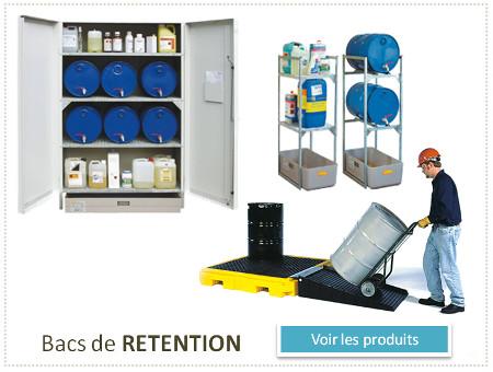 bacs de retention et armoires phytosanitaires pour le stockage de sécurité