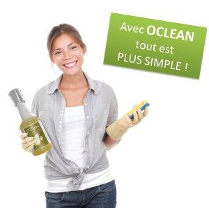 Oclean, produit d'entretien universel écologique et économique