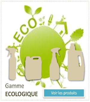 gamme de produits écologiques respectueux de l'environnements