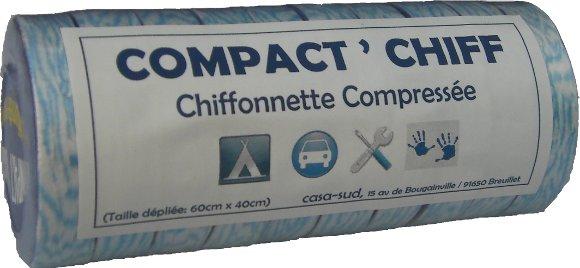 Tube de 10 chiffons compresses. ideal pour la voiture, la randonnée, le camping...